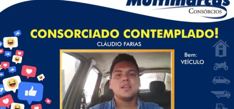 """Claudio Farias: """"Fiz o plano de um veículo e graças à Deus fui contemplado""""."""
