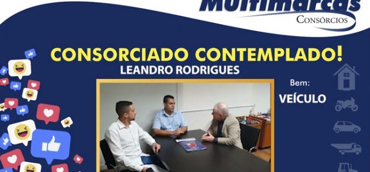 Leandro Rodrigues adquiriu um consório para veículos e recomenda o atendimento Multimarcas