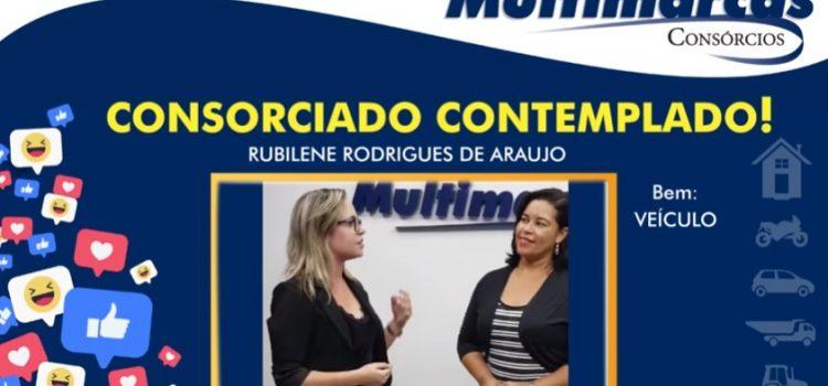 Rubilene Rodrigues foi contemplada através do lance e vai adquirir um novo veículo!